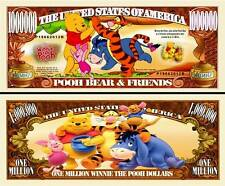 Winnie the Pooh Bear Million Dollar Bill Collectible Funny Money Novelty Note