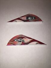 "New Bohning 100 Pack 2"" Red Rusted Flame Blazer Vanes Rust Arrow Fletching"