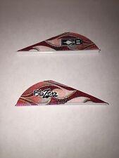 "New Bohning 36 Pack 2"" Red Rusted Flame Blazer Vanes Rust Arrow Fletching"