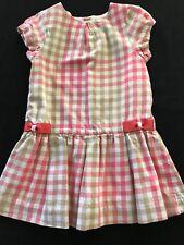 Jacadi Pink & Brown Plaid Lined Dress - 23 Months