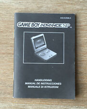 Gameboy Advance - Gameboy Advance SP -- AGS-EUR(B)-5 - Instruction manual