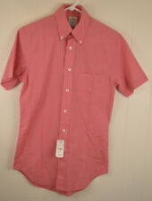 New Brooks Brothers 346 The Original Polo Shirt Slim Sit Extra Small XS Pink