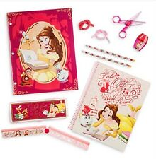 Authentic Disney Store Beauty Art Of Belle Stationery Art Supply Kit