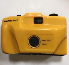 Vintage Ultronic Focus Free 35 mm Camera YELLOW 35mm plastic
