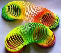 Classic Cool Children Colorful Rainbow Plastic Magic Slinky Development Toy