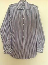 JOHN LEWIS Men's formal striped shirt. 15 inch collar. Machine washable.