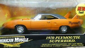 American Muscle ERTL 1970 Plymouth Superbird Orange 1/18 Limited Edition MIB