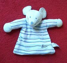 TIAMO COLLECTION blau Maus Mäuschen als Schmusetuch Schnuffeltuch Kuscheltuch *