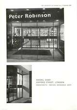 1956 View Of Doors For Peter Robinson Shop Oxford Street