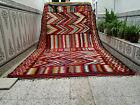 Moroccan Handmade Vintage Traditional Rug Azilal Wool Rug Berber Tribal Carpet