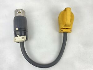HUBBELL CS-6365C LOCKING PLUG 3P 4 WIRE 50A 125/250VAC w/ Camco Female End