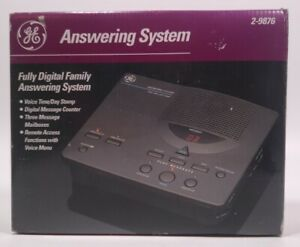 GE Vintage Family Answering System 3 Mailboxes Digital Telephone Machine 2-9876