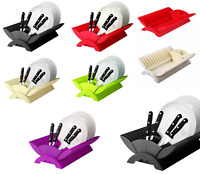 Plastic Dish Drainer Kitchen Utensil Cutlery Dish Plate Drying Rack Holder New