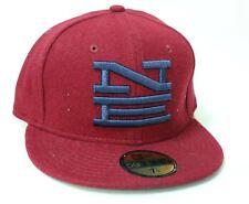 "NEW ERA Men's Cardinal Red Navy Blue Melton Stack 59Fifty Baseball Cap 7 1/4"""