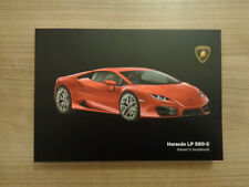 Lamborghini Huracan LP 580-2 Owners Handbook/Manual