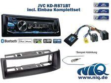 Renault Megane / Scenic Autoradio Einbauset *Schwarz* inkl. JVC KD-R871BT und Le