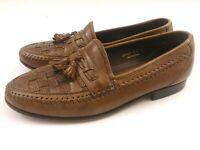 Florsheim Mens Size 9D Dress Shoes Tassle Brown Slip On Loafers