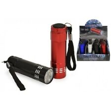 9 LED ALLOY TORCH IDEAL FOR CAMPING AND FESTIVALS BRIGHT LEDS BATTERIES INCLUDED