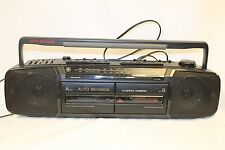Vintage GE General Electric BOOMBOX STEREO CASSETTE AM FM RADIO