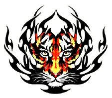 Tiger Flames Iron-On Decal Transfer (For T Shirts, etc) 25.5 cm x 22 cm