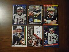 Tom Brady New England Patriots 6 Card Lot Rookies Facs Auto Michigan University
