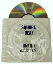 (50) CRY-2SVWH White Replacement CD DVD Disc Binder Pages Sleeves Ring Style