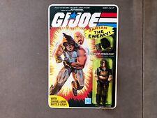 GI Joe Vintage 1984 Zartan w/ Unstuck Stickers 100% Complete REPRODUCTION CARD