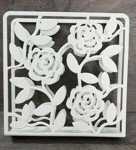 IKEA LIKSIDIG Napkin Holder White Steel Floral.