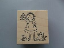 PEDDLER'S PACK RUBBER STAMPS WILDA MADE CUPCAKES NEW STAMP