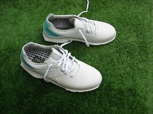 LADIES FOOTJOY PRO SL GOLF SHOES - UK SIZE 6 - WHITE WITH GREEN TRIM - WORN ONCE