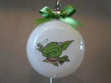 "Handmade Star Wars ""Yoda"" 3"" Glass Ball Christmas Ornament~Made In The USA, NEW"