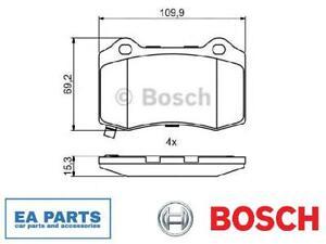 Brake Pad Set, disc brake for CHRYSLER DODGE JEEP BOSCH 0 986 494 708