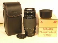 Mint w/Box Sigma 75-300mm F4.5-5.6 AF Sony Maxxum A-Mount Lens