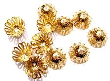 2335FN Bead Cap Filigree Gold ptd Brass 12mm for 10-12mm bead Flower Bell 20 Qty