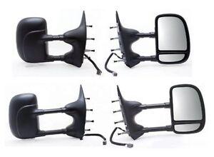 2002-2008 Ford E150 E250 E350 E450 E550 Driver Side Power Extend Fold Tow Mirror