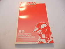 Honda Owners Manual 1995 TRX400FW Fourtrax Foreman