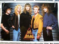 RARE DEF LEPPARD 1988 VINTAGE ORIGINAL MUSIC POSTER