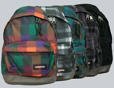 "Eastpak Rucksack/Backpack ""Wyoming"" Black, Checkbook Orange, Checked Green"