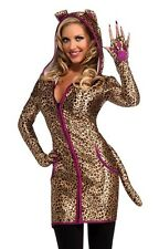 Leopard Costume Womens Adult Sexy Female Urban Spotted Cat Hoodie Dress  - Fast