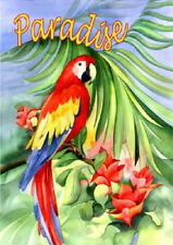 New listing New Large Toland House Flag Gorgeous Parrot Macaw Paradise 28 X 40