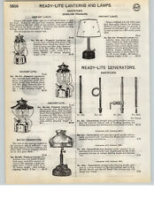 1935 PAPER AD 3 PG Ready Lite Coleman Lantern Lamp Shade Instant Lighting Quick