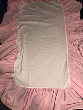 Pottery barn kids Pink-White gingham Checkered baby crib  skirt