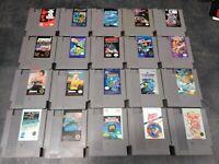 20 Nintendo NES Game Lot Rad Racer, Commando, Spy Hunter, Wrestlemania, Top Gun
