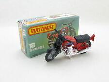 Matchbox Superfast 18 Hondarora Honda Motorcycle Red Boxed