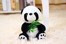 Lovely Mini Sitting Bamboo leaf Panda Stuffed Animals soft toys plush doll 12CM