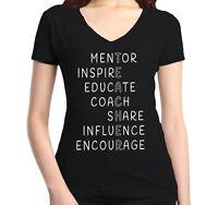 Inspirational Teacher Women's V-Neck T-shirt Teacher Appreciation Day Gift Tee