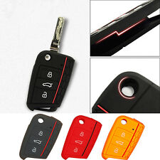 Black Silicon Remote Key Case Cover Car Skin Fob For Volkswagen VW Golf 7 mk7