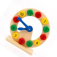 Intellectual Baby Kids Early Learning Educational Toy Funny Wooden  Clock  s_