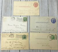 5 Vintage Used Pre Stamped Postcards Post Cards