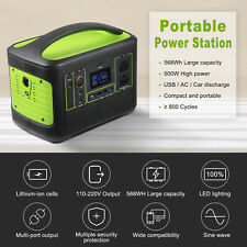New Listing568Wh Solar Portable Power Station 500W Portable Generator Emergency PowerSupply